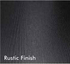rustic finish
